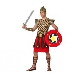 Disfraz de Gladiador con escudo para hombre