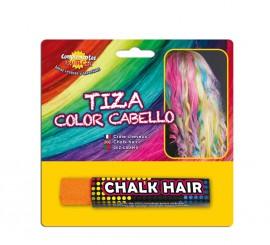 Blister Barra de Tiza para el pelo de color Naranja