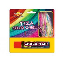 Blister Barra de Tiza para el pelo de color Rojo
