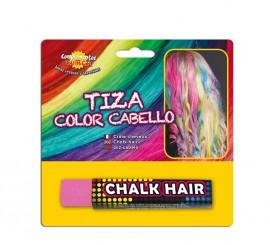 Blister Barra de Tiza para el pelo de color Rosa