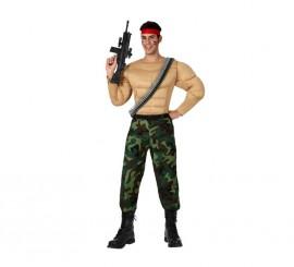Disfraz de Militar Musculoso para hombre talla XL