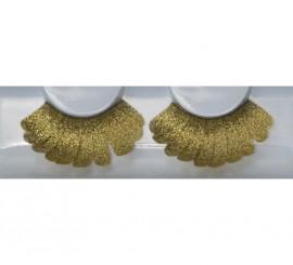 Pestañas postizas feather de color oro