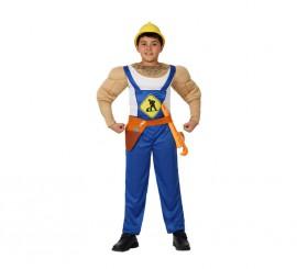 Disfraz de Albañil Musculoso para niños