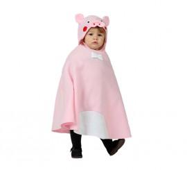 Disfraz o Poncho de Cerdito talla única de bebé