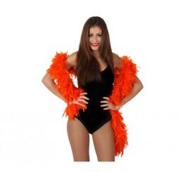 Boa de 100 gr de color naranja de 185 cm
