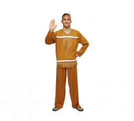 Disfraz barato de Indio para hombre. Talla M-L