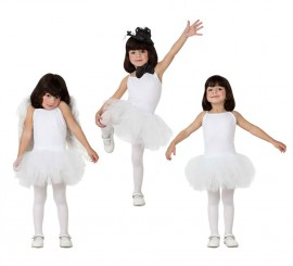 Disfraz de Bailarina Blanco para Niña