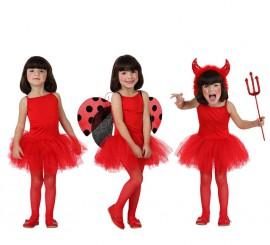 Disfraz de Bailarina Rojo para Niña