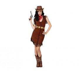 Disfraz para mujer de Vaquera marrón