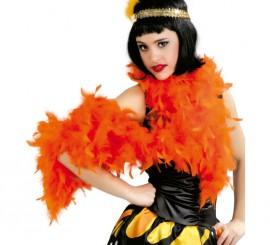 Boa de plumas Naranja de 40 gramos de 180 cm.