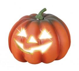 Calabaza con luz 22,5 cm para decoración Halloween