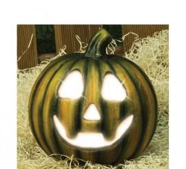 Calabaza con luz de 20 cm para decorar en Halloween