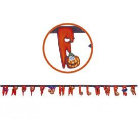 Guirnalda HAPPY HALLOWEEN de 210cm para decoración