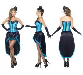 Disfraz de Bailarina de Burlesque Azul para Mujer