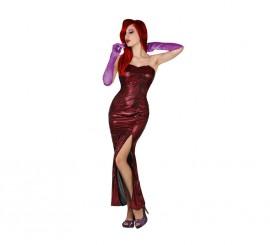 Disfraz de Jessica Rabbit de cine sexy para mujer