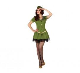 Disfraz para mujeres de Militar Tutú sexy