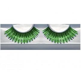 Pestañas postizas extralargas de color verde
