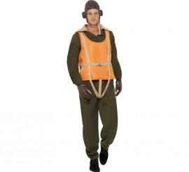 Disfraz de Aviador Deluxe 2ª GM para Hombre