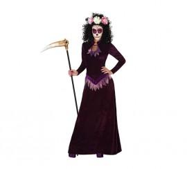 Disfraz para Halloween de Muerte morado para mujer