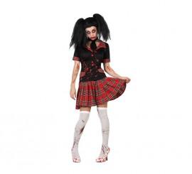 Disfraz de Colegiala Zombie Sangrienta para mujer