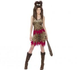 Disfraz de Cavernícola de Terciopelo para Mujer