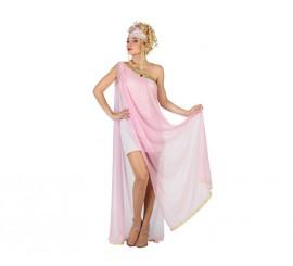 Disfraz de Diosa Griega con tul rosa para mujer
