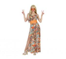 Disfraz de Mujer Hippie Estampada para mujer