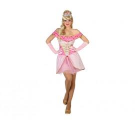 Disfraz de Princesa Bella rosa para mujer