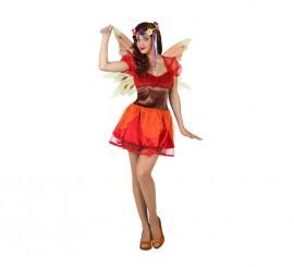 Disfraz de Hada Otoño roja para mujer