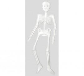 Esqueleto fluorescente de 90 cms. para Halloween