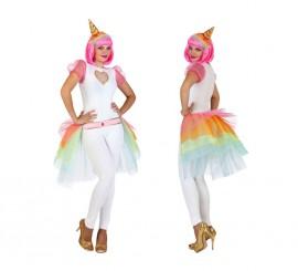 Disfraz de Unicornio con tutú para mujer