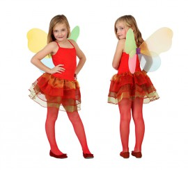 Disfraz de Hada Otoño roja para niñas