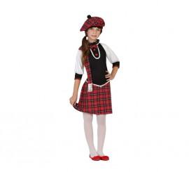 Disfraz para niñas de Escocesa
