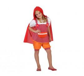 Disfraz de Caperucita con capa para niñas