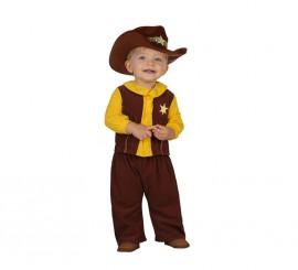 Disfraz de Vaquero marrón para bebés