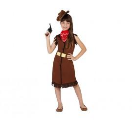 Disfraz para niñas de Vaquera marrón