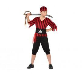 Disfraz para niños de Pirata rayas