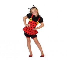 Disfraz de Mariquita con margaritas para niña