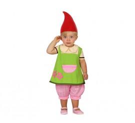 Disfraz de Duende verde para bebé