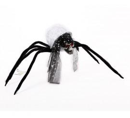 Araña Calavera Novia con ojos rojos 63 cm