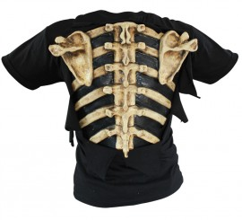 Camiseta Huesos Bones de Látex para Halloween