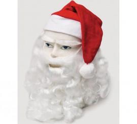 Complemento Papa Noel gorro, peluca, cejas y barba