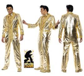 Disfraz Elvis Presley auténtico en Oro para Hombre