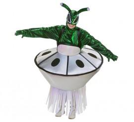 Disfraz de Extraterrestre con Nave Espacial adulto