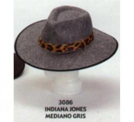 Sombrero de Indiana Jones mediano gris