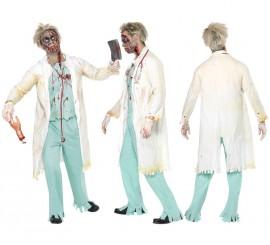 Disfraz de Doctor Zombie para Hombre talla L