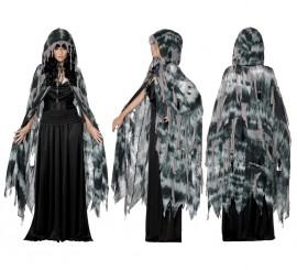 Capa Gótica de Fantasma o Bruja para Mujer talla M