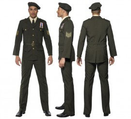 Disfraz de Oficial en Tiempos de Guerra para Hombre