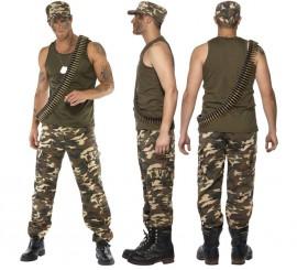 Disfraz de Soldado de Camuflaje para Hombre