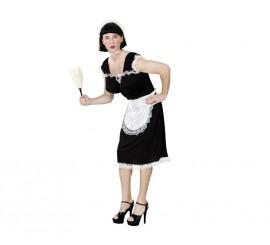 Disfraz Doncella Francesa para hombre talla M-L